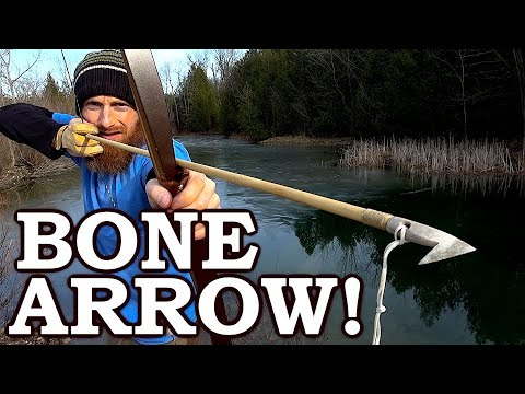 Stone Age SURVIVAL BOW, SLINGBOW And SPEAR FISH Challenge (Primitive Vs. Modern?)