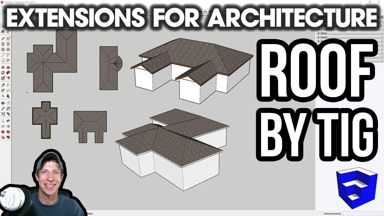 SketchUp Extensions FOR ARCHITECTURE - ROOF by TIG - Easy