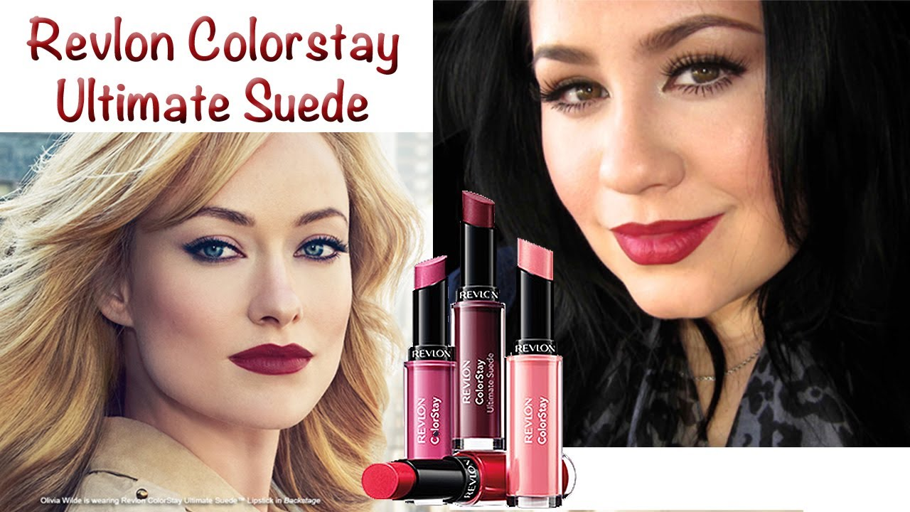 revlon ultimate suede lipstick review demo olivia