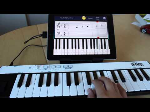 Piano Tutor for iPad iRig Keys demo