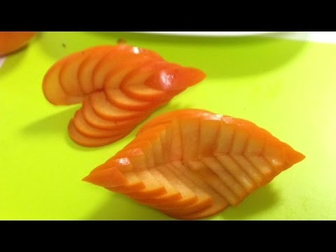 how to cut a persimmon