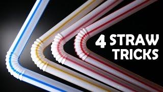 4 Incredible Straw Hacks! - Super Simple, Lots of Fun!!!