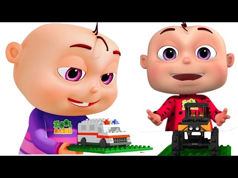 Thumbnail: Five Little Babies Building Transport Vehicles | Learn Vehicles | Original Learning Songs