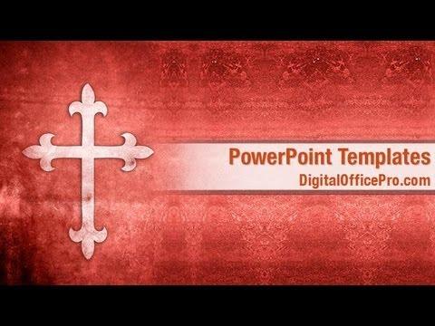 Christian Cross Powerpoint Template Backgrounds Digitalofficepro 02246w
