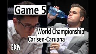 Carlsen-Caruana ¦ Game 5 ¦ World Championship 2018!