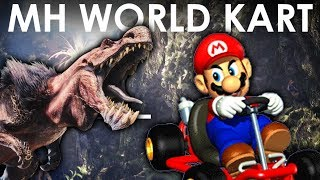 MHWorld   4 Player Lance Race (Mario Kart Parody)