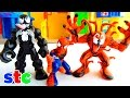 Playskool Marvel Super Hero Adventures Spider Man, Venom y Carnage