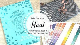 Erin Condren Haul | 2019 Monthly Sticker Book, Rose Gold Insider Gift, & MORE! |