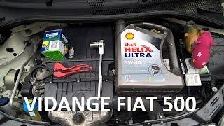 Vidange filtre sur une Fiat 500