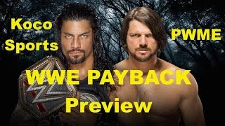 "KocoSports - ""WWE Payback 2016"" Preview / Predications"