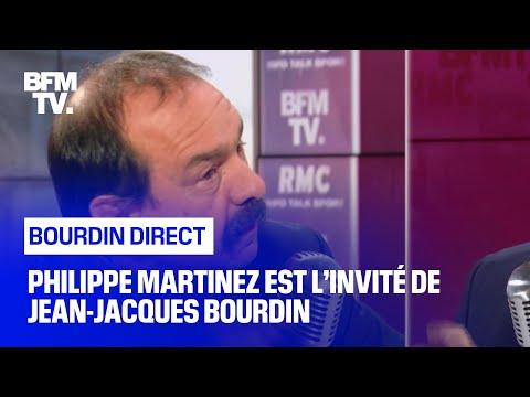 Philippe Martinez face à Jean-Jacques Bourdin en direct