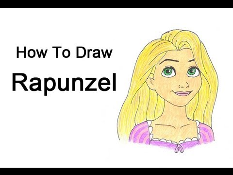 How to Draw Rapunzel from Tangled - YouTube