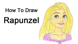 How to Draw Rapunzel from Tangled(Visit http://www.EasyDrawingTutorials.com when watching this video for the simple step-by-step instructions and PAUSE the video after each step to draw at ..., 2012-11-11T09:00:54.000Z)