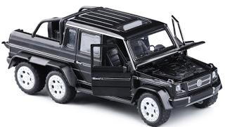 Машина металл Mercedes G-6х6 Gelenvagen 1:32 Черный Гелик 6 колесный