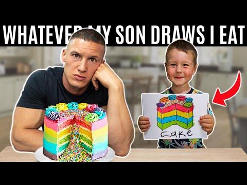 Whatever my son draws I eat *challenge*