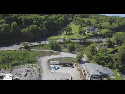Rás Tailteann lead pack filmed in the town of Foynes, Co. Limerick