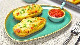 Запеченный картофель фаршированный куриной грудкой. Рецепт от Всегда Вкусно!