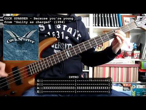 COCK SPARRER - Because You're Young (bass Cover W/ Tabs)