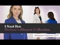 9 Royal Blue Women's Blazers Collection Amazon Fashion 2017