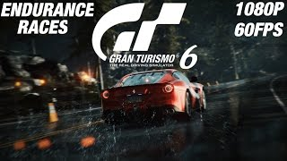 Gran Turismo 6 - Endurance Races Gameplay Walkthrough Full Races [1080P 60FPS]