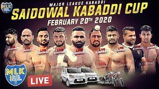 LIVE - Saidowal (Kapurthala) Kabaddi Cup 2020 - Major League Kabaddi