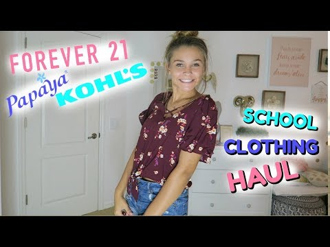 BACK TO SCHOOL CLOTHING HAUL 2017! TRY ON HAUL!