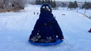 Toddler Sled - Fastest Sled the Kids have. Video for Children to Watch.