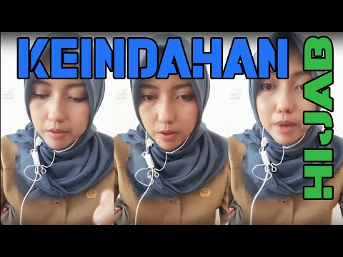 Krindahan Gadis Hijab Style PNS Jilbab Live Makan