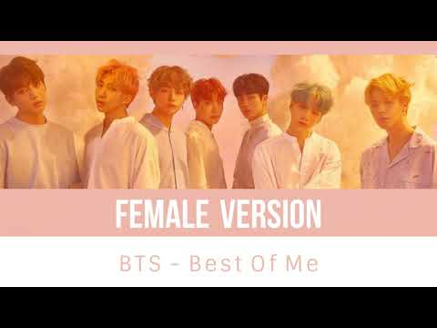 BTS - Best of Me (ft. The Chainsmokers) [FEMALE VERSION]
