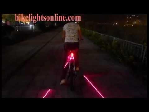 MYLANE BICYCLE REAR TAIL LIGHT W// LASER LANE