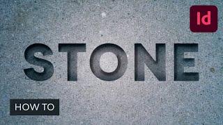 So Erstellen Sie eine Gravierte Stein-Text-Effekt in InDesign