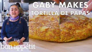 gaby-makes-tortilla-de-papas-from-the-test-kitchen-bon-apptit