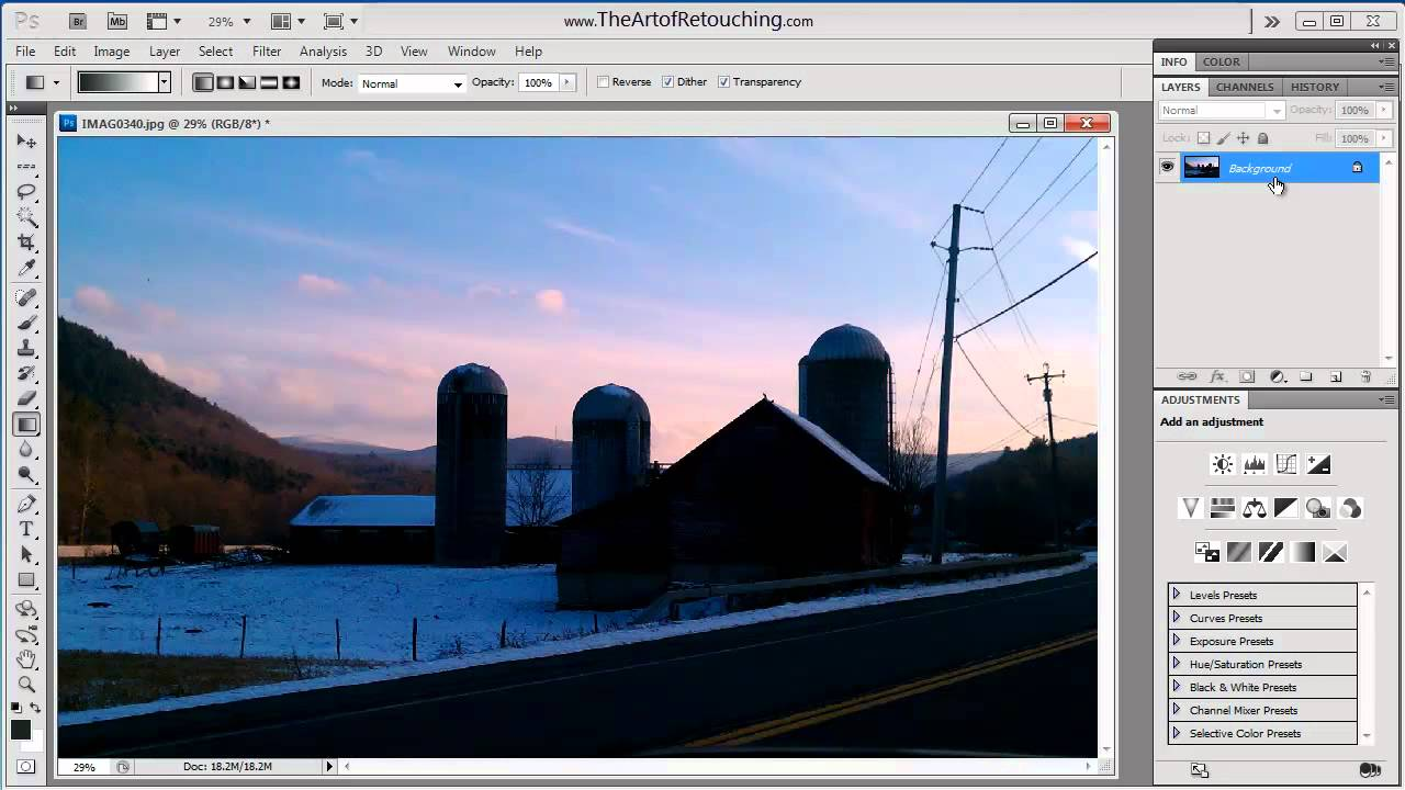 How to use adjustment layers photoshop tutorial youtube baditri Image collections