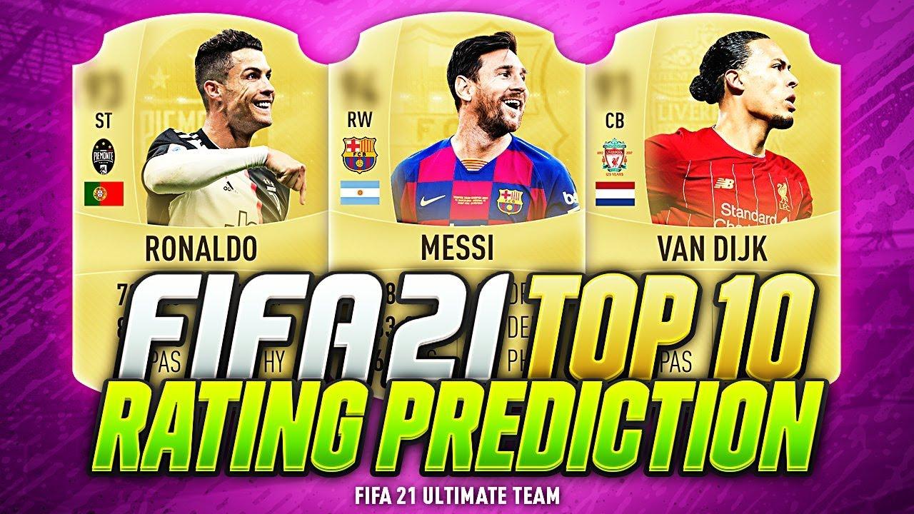 Fifa 21 Top 10 Best Players Ratings Predictions W Van Dijk Ronaldo De Bruyne Messi Fut 21 Youtube