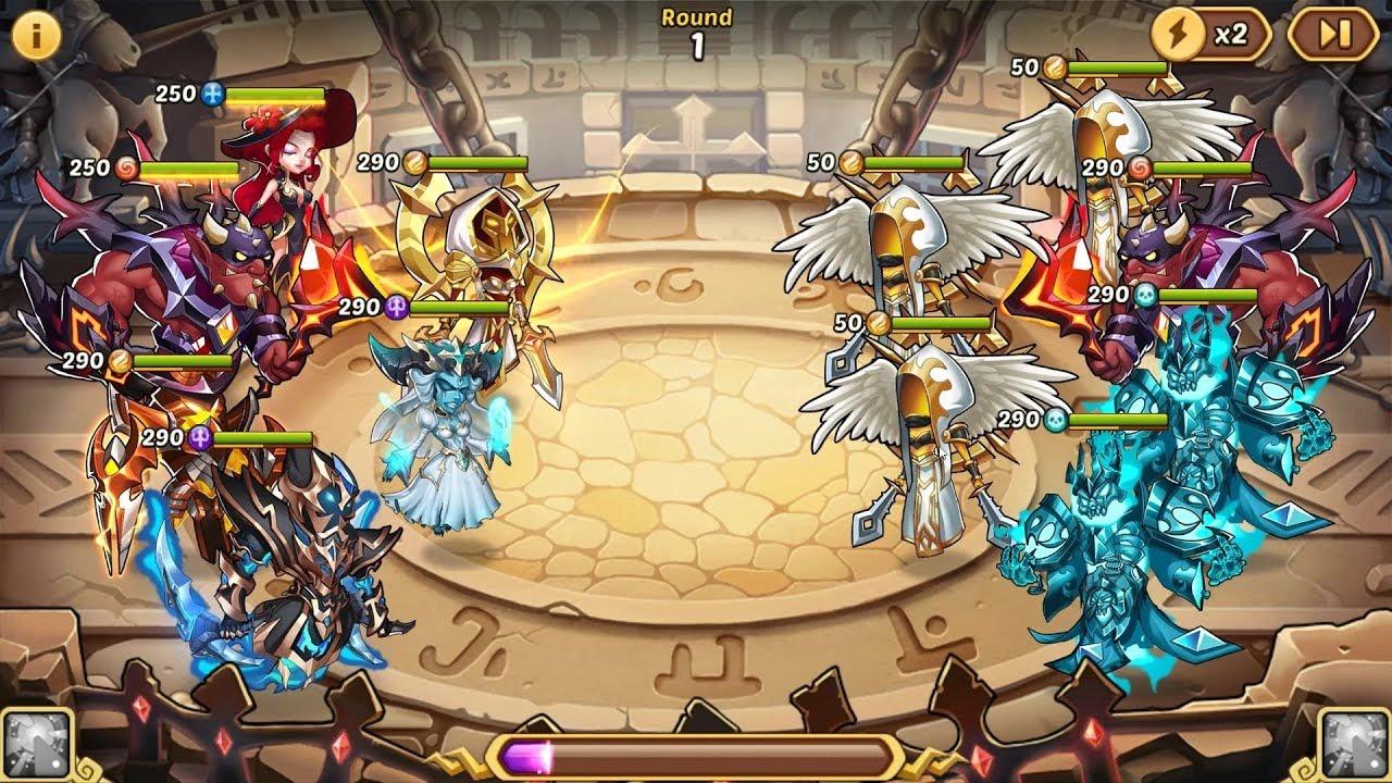 Arena - Cheese Team meta - Idle Heroes - Private Server