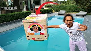 TIANA'S TOYS IN OUR SWIMMING POOL PRANK!!