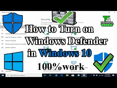 How To Enable Windows Defender In Windows 10 | Turn On Windows Defender