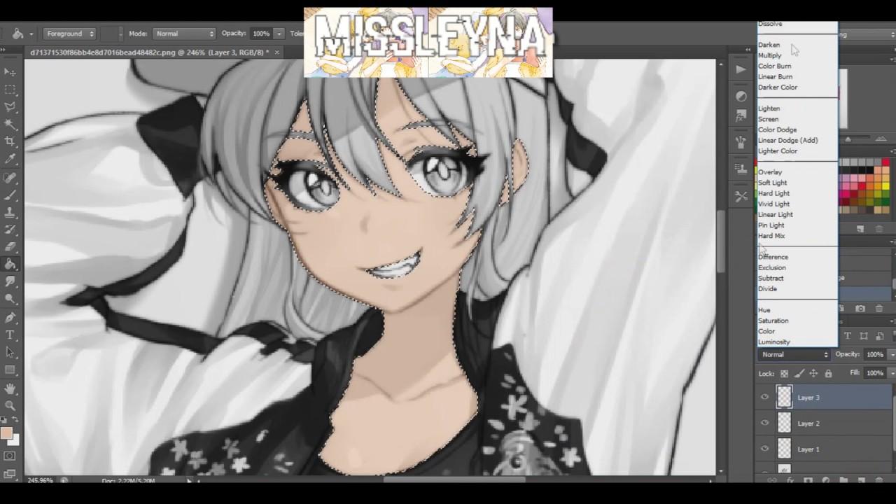 Anime Skin Color Tutorial On Photoshop Youtube