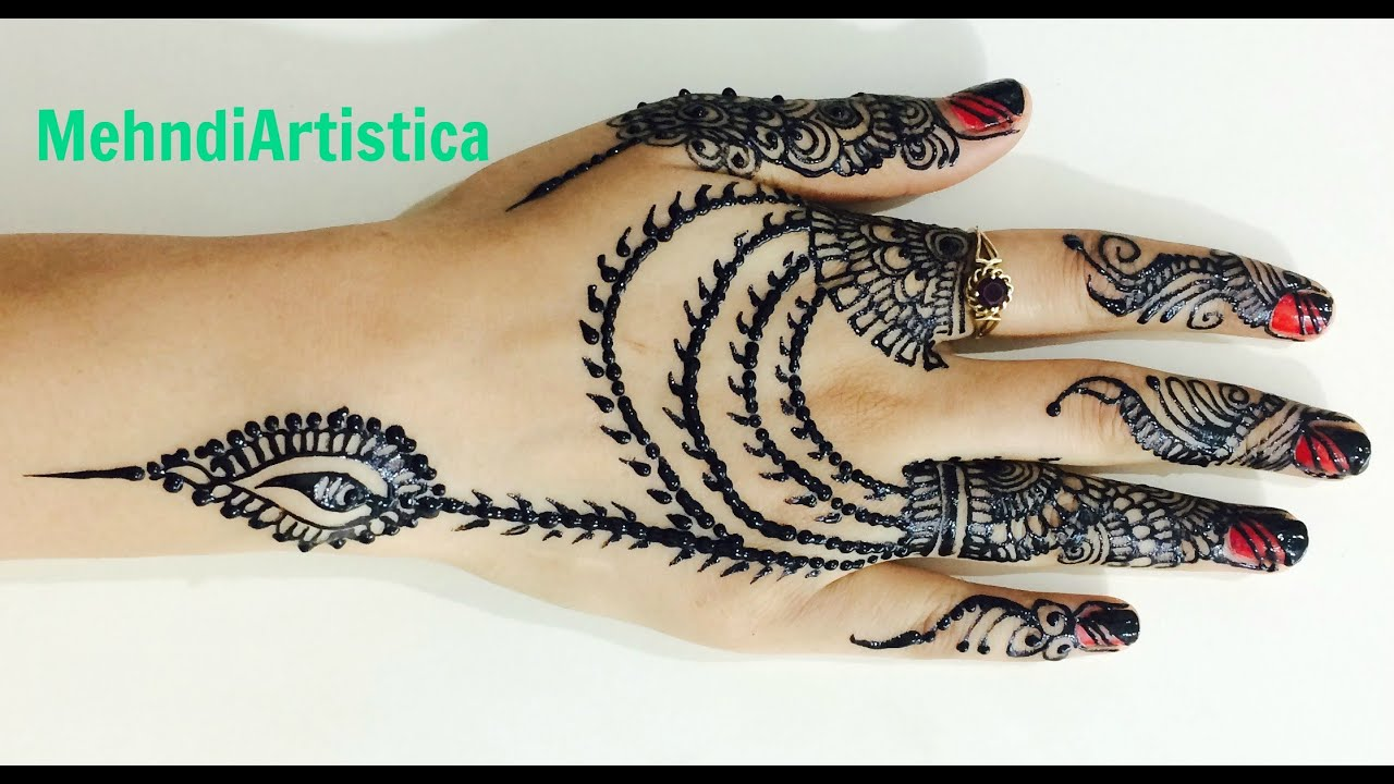 Mehndi Designs For Upper Hands : Khafif saudi heena mehndi designs for upper side hands