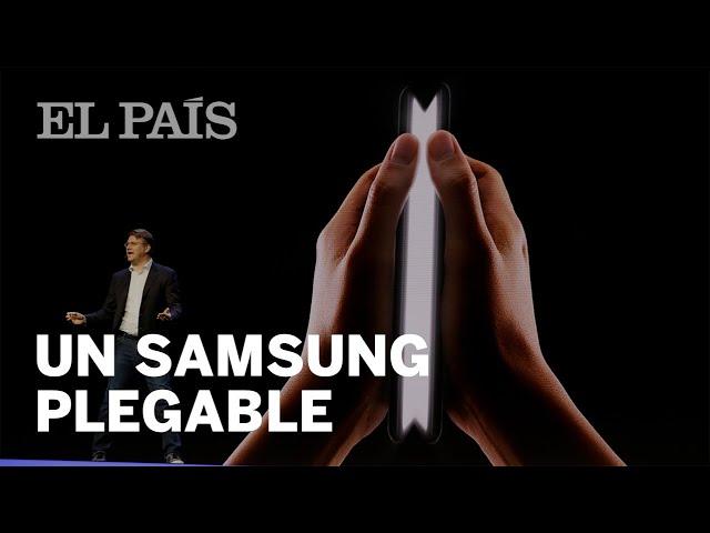 Samsung teléfono pantalla plegable  Samsung muestra  a oscuras  su móvil  con pantalla plegable  b208b26c53f0b