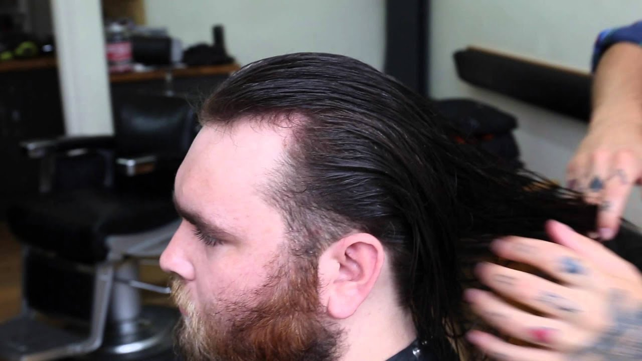How To Cut Long Mens Hair And Beard Trim Youtube In Brilliant Trim Haircut  For Long Hair For Your Reference