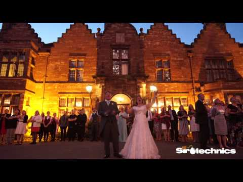Wedding Fireworks at Wrenbury Hall