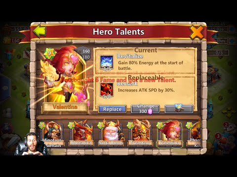 Rolling For 5/5 Revitalize For Valentina BEAST Account Castle Clash