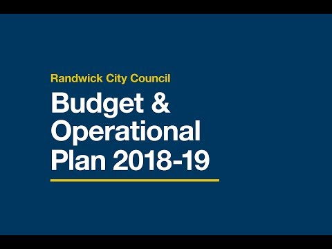 Budget & Operational Plan 2019 - What it means for you