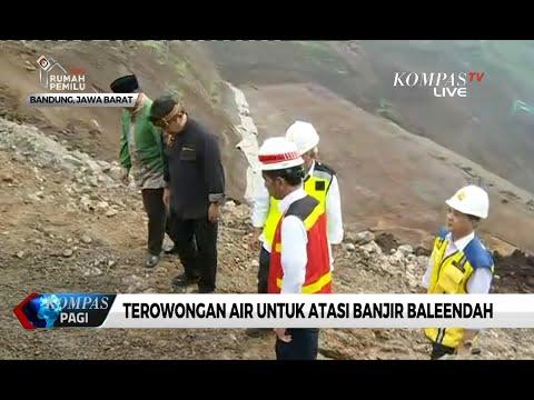 Presiden Jokowi Pantau Pembangunan Terowongan Air Di Bandung