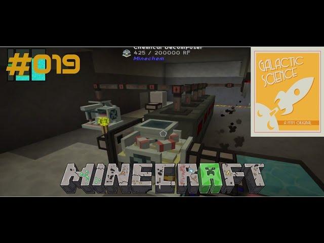 Let's Play Minecraft Galactic Science   Dauerhaft Sieben, fast Automatisch   Folge #019