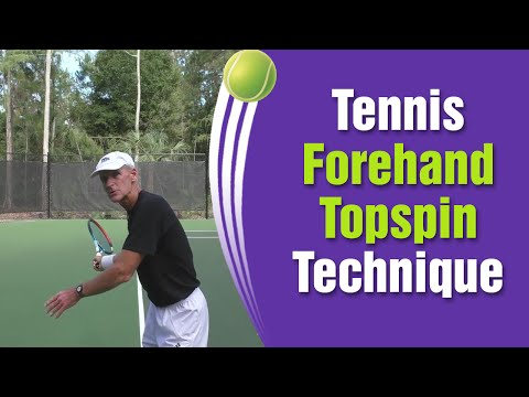 Tennis Forehand Topspin Technique Like The PROS!