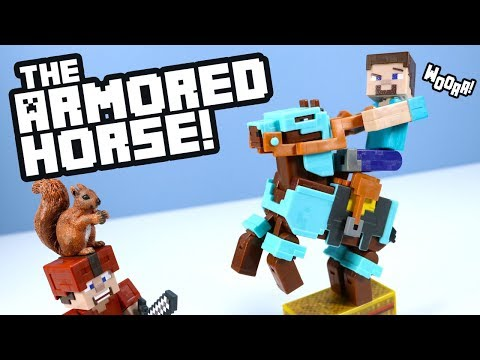 Minecraft Toys Steve And Diamond Armored Horse Action Figures! Mattel