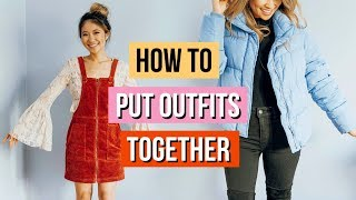 How to Put Together Outfits ! Oversized Clothing Hacks!