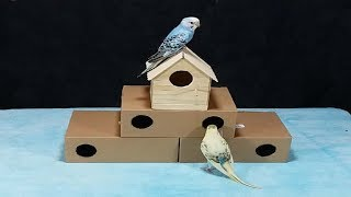 Most Beautiful Bird House - How to make it using Cardbord & Popsicle stick